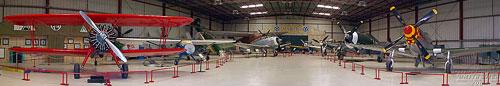 Panorama of the Planes of Fame Air Museum