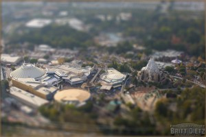 Tilt-Shift Image of Disneyland, California