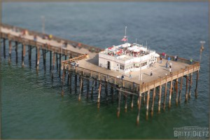 Tilt-Shift image of the Balboa Beach Pier