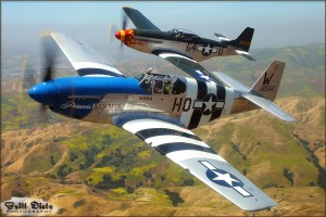 North American P-51C and P-51D Mustangs