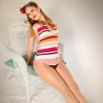 Alisha - With 50s Swimsuit in old fashioned Chair