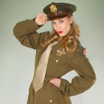 Alisha - In USAAF Class A Uniform