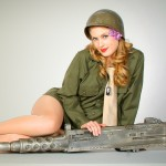 Alisha - With .50 Caliber Machine Gun