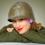 Alisha - with M1 Helmet Liner
