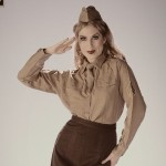Alisha - In a Women's Army Corps Uniform