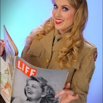 Alisha - With Womens Army Corps Uniform and LIFE Magazine