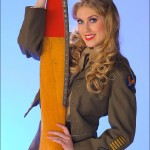 Alisha - With USAAF IKE Jacket and Propellar