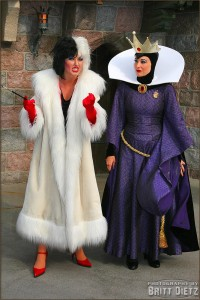 The Evil Queen and Cruella Deville