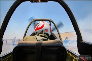 View from the backseat of a P-51 Mustang