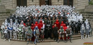501st on the steps of the Indiana Capitol - Star Wars Celebration III