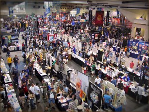 Comic Con Exhibit Hall Overview