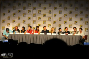 The cast of the tv show CHUCK at a Comic Con Panel