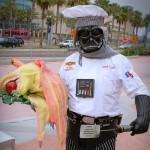 Chef Vader with Jar Jar head