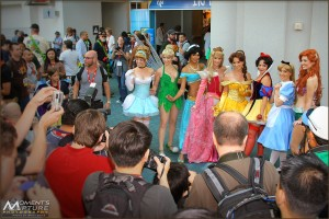 Photographer Crowd with Disney Princess Group