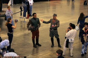 Star Wars actor Jay Laga'aia arrives in costume