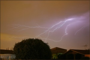 Lightning flash over Southern California (July 16, 2005)
