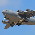 A C-17A Globemaster III performs a gear down pass at the 2010 NBVC Point Mugu Airshow