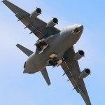 A C-17A Globemaster III banks over the crowd at the 2010 NBVC Point Mugu Airshow
