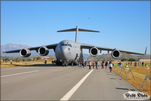A C-17A Globemaster III sits on display at the 2009 Riverside Airshow