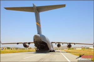 Approaching the C-17A Globemaster III on the way to board for the media flight