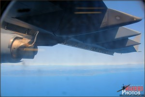 View out the window of a C-17A Globemaster III