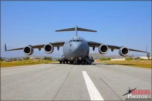 The now silent C-17A Globemaster III after out flight
