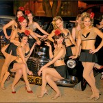 The Satin Dollz pose for a photo at the 2009 Air Raid Event