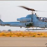 An AH-1W Cobra lands at MCAS Miramar