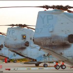 HHM-163 CH-45E Sea Knights sit lined up at MCAS Miramar