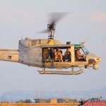 A UH-1N Huey lowers for landing at MCAS Miramar