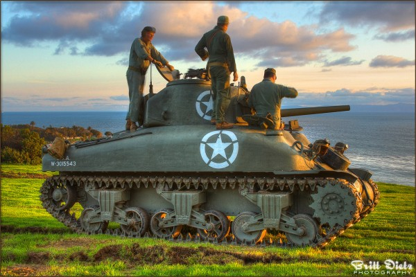 Sherman Tank HDRI Sunset - LA Air Raid Event - February 2010