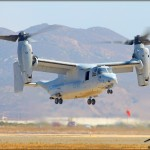 A MV-22 Osprey comes in for landing at the 2011 MCAS Miramar Airshow