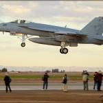 NAF El Centro PhotoCall - Landing F/A-18E Super Hornet