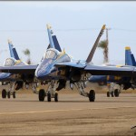 NAF El Centro PhotoCall - USN Blue Angels taxi to the Runway