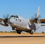 NAF El Centro PhotoCall - KC-130J Hercules touch and go landing