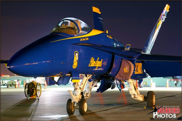 Night shoot with the USN Blue Angels