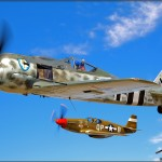 Focke-Wulf FW-190 A8-N and P-51C Mustang