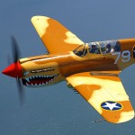 Air to Air Shoot: Curtiss P-40N Warhawk