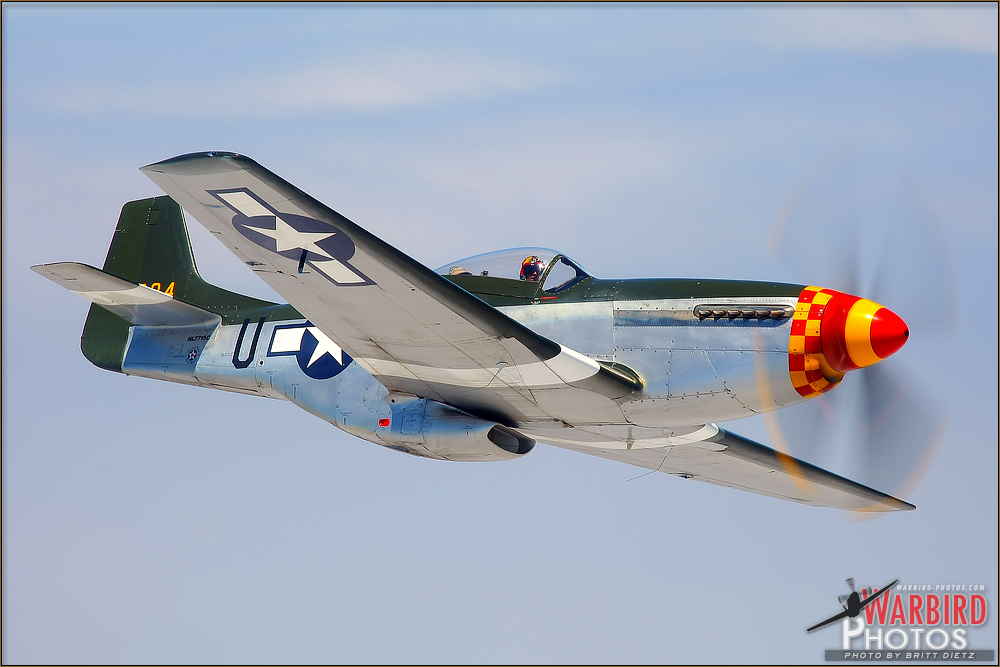 Air to Air Shoot: North American P-51D Mustang