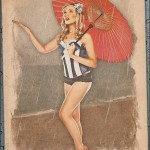 Pinups - Rachel - Rainy Day at the Beach Pinup