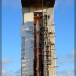 NASA LANDSAT Satellite ontop of an ATLAS IV Rocket