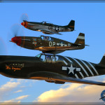 P-51 Mustang formation Air to Air Photoshoot - Planes of Fame Airshow 2014