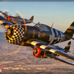 P-47 Thunderbolt formation Air to Air Photoshoot - Planes of Fame Airshow 2014