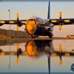 USN Blue Angels' 'Fat Albert' C-130 Hercules at the LA County Airshow 2014