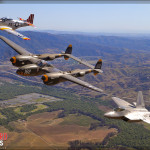 USAF Heritage Flight Air to Air Photoshoot - Planes of Fame Airshow 2014