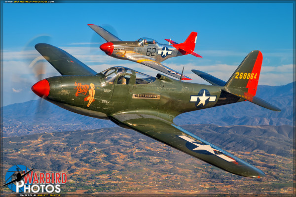 Palm Springs Air Museum's P-63A Kingcobra 'Pretty Polly' & P-51D Mustang 'Wee Willy II'