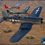 F4U-1A Corsair, P-51D Mustangs 'Wee Willy II' and 'Bunny'