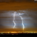 Lightning over Riverside County