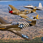 USAF Heritage Flight - Planes of Fame 2015